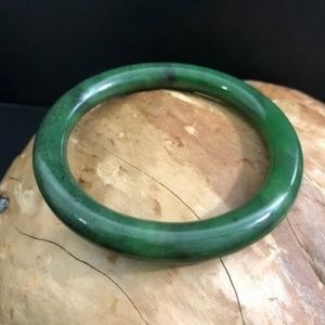 Traditional Round Jade Bangle Bracelet - Multiply